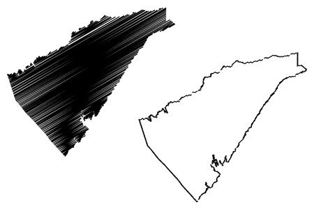 Calaveras County, California (Counties in California, United States of America,USA, U.S., US) map vector illustration, scribble sketch Calaveras map