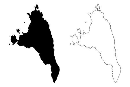 Antsiranana Province (Provinces of Madagascar, Republic of Madagascar) map vector illustration, scribble sketch Antsiranana map