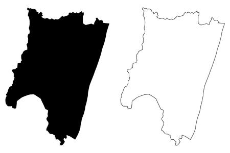 Fianarantsoa Province (Provinces of Madagascar, Republic of Madagascar) map vector illustration, scribble sketch Fianarantsoa map Stock Illustratie