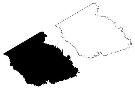 Burleson County, Texas (Counties in Texas, United States of America,USA, U.S., US) map vector illustration, scribble sketch Burleson map Stock Illustratie