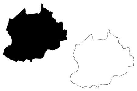 Northwest Region (Regions of Cameroon, Republic of Cameroon) map vector illustration, scribble sketch North-West Region map