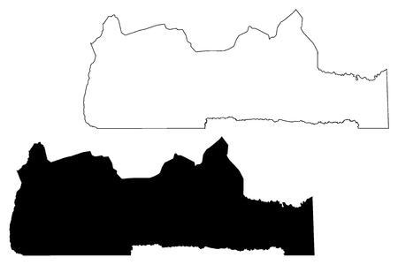 South Region (Regions of Cameroon, Republic of Cameroon) map vector illustration, scribble sketch South map