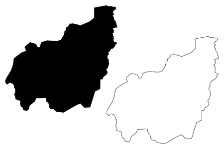 West Region (Regions of Cameroon, Republic of Cameroon) map vector illustration, scribble sketch West map