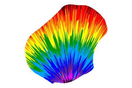 Nauru - map is designed rainbow abstract colorful pattern, Republic of Nauru (Pleasant Island) map made of color explosion,