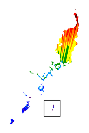 Palau - map is designed rainbow abstract colorful pattern, Republic of Palau (Belau, Palaos or Pelew) map made of color explosion,