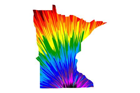 Minnesota (United States Of America, USA, U.S., US) - Map Is ...