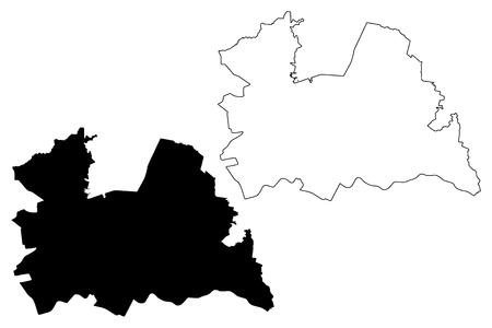 Utrecht province (Kingdom of the Netherlands, Holland) map vector illustration, scribble sketch Utrecht map Illustration