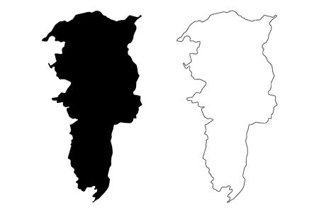 Bolivar Province (Republic of Ecuador, Provinces of Ecuador) map vector illustration, scribble sketch Bolivar map