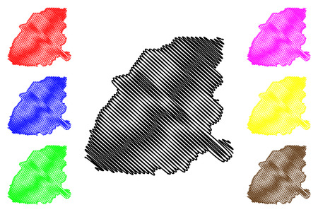 Eastern Region (Administrative divisions of Ghana, Republic of Ghana) map vector illustration, scribble sketch Eastern map