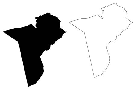 Tataouine Governorate (Governorates of Tunisia, Republic of Tunisia) map vector illustration, scribble sketch Tataouine map 일러스트