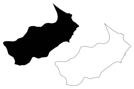 Tunis Governorate (Governorates of Tunisia, Republic of Tunisia) map vector illustration, scribble sketch Tunis map 일러스트