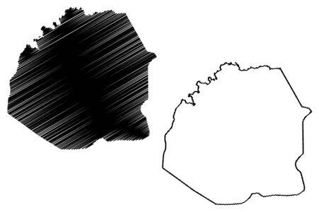 Atakora Department (Departments of Benin, Republic of Benin, Dahomey) map vector illustration, scribble sketch Atakora map Illustration