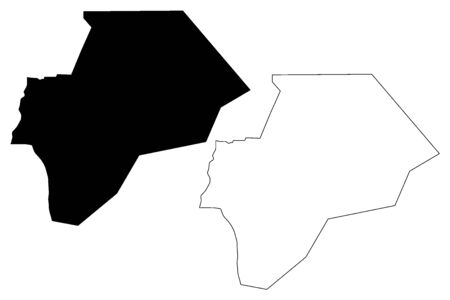Maan Governorate (Hashemite Kingdom of Jordan) map vector illustration, scribble sketch Maan map