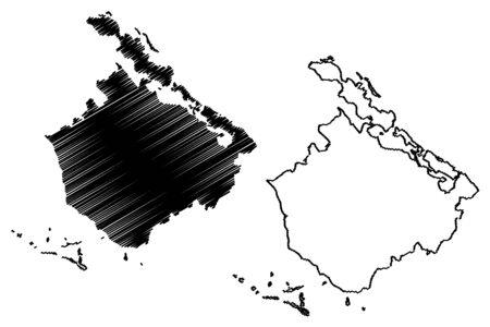 Camaguey Province (Republic of Cuba, Provinces of Cuba) map vector illustration, scribble sketch Camagüey map Фото со стока - 129175181