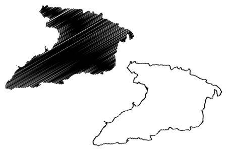 Granma Province (Republic of Cuba, Provinces of Cuba) map vector illustration, scribble sketch Granma map