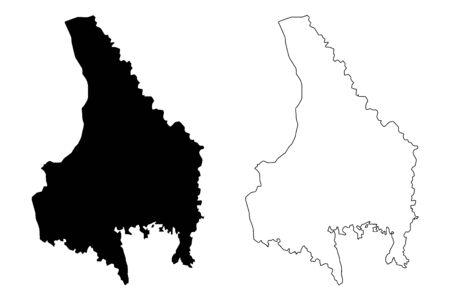 Varmland County (Counties of Sweden, Kingdom of Sweden) map vector illustration, scribble sketch Värmland map