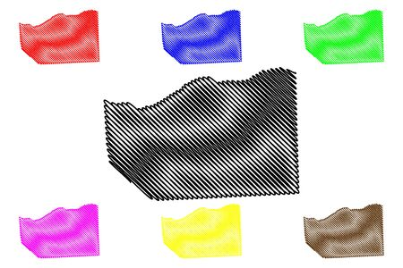Sanaag region (Federal Republic of Somalia, Horn of Africa) map vector illustration, scribble sketch Sanaag map 일러스트