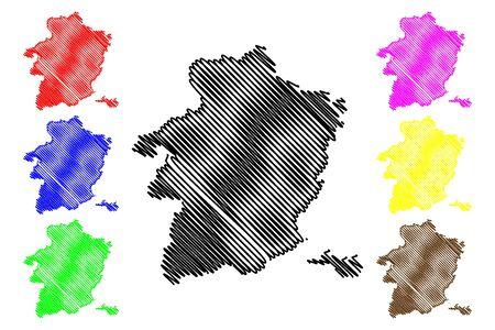 Limburg Province (Kingdom of Belgium, Provinces of Belgium, Flemish Region) map vector illustration, scribble sketch Limburg map