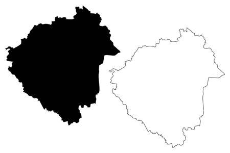 Zala County (Hungary, Hungarian counties) map vector illustration, scribble sketch Zala map Illustration