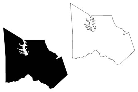 Montgomery  County, Texas (Counties in Texas, United States of America,USA, U.S., US) map vector illustration, scribble sketch Montgomery map 일러스트