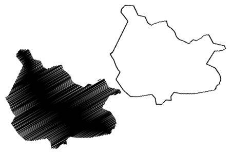 Muramvya Province (Republic of Burundi, Provinces of Burundi, Western region) map vector illustration, scribble sketch Muramvya map