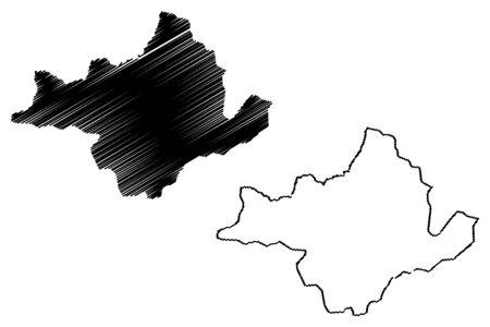 Ngozi Province (Republic of Burundi, Provinces of Burundi, Northern region) map vector illustration, scribble sketch Ngozi map