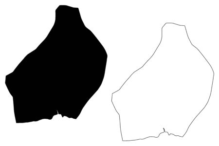 La Romana Province (Dominican Republic, Hispaniola, Provinces of the Dominican Republic) map vector illustration, scribble sketch La Romana map Çizim
