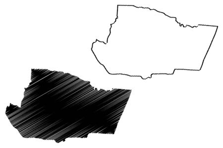 Tafilah Governorate (Hashemite Kingdom of Jordan) map vector illustration, scribble sketch Tafilah map Foto de archivo - 129420348