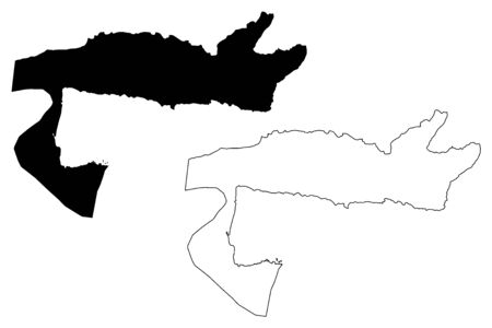 Samana (Dominican Republic, Hispaniola, Provinces of the Dominican Republic) map vector illustration, scribble sketch Samaná map