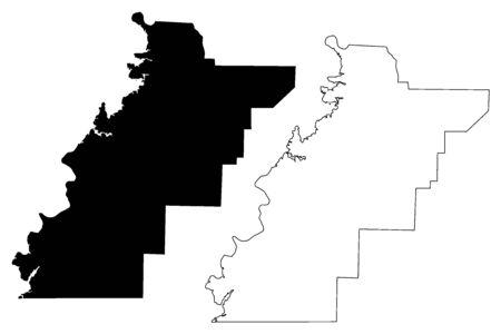 Contea di Talladega, Alabama (Contee in Alabama, Stati Uniti d'America, USA, USA, USA) mappa illustrazione vettoriale, schizzo mappa Talladega