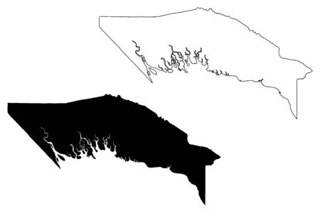 Gulf Province (Independent State of Papua New Guinea, PNG, Provinces of Papua New Guinea) map vector illustration, scribble sketch Gulf map  イラスト・ベクター素材