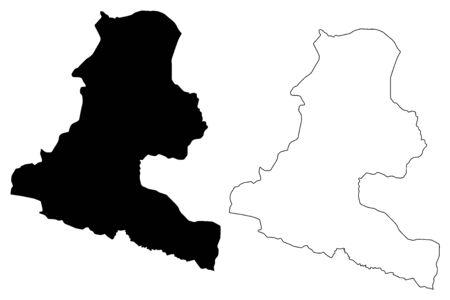 Chimbu Province (Independent State of Papua New Guinea, PNG, Provinces of Papua New Guinea) map vector illustration, scribble sketch Simbu map  イラスト・ベクター素材