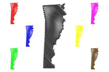 Newton County, Texas (Counties in Texas, United States of America,USA, U.S., US) map vector illustration, scribble sketch Newton map Illusztráció
