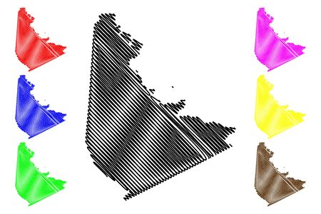 San Jacinto County, Texas (Counties in Texas, United States of America,USA, U.S., US) map vector illustration, scribble sketch San Jacinto map