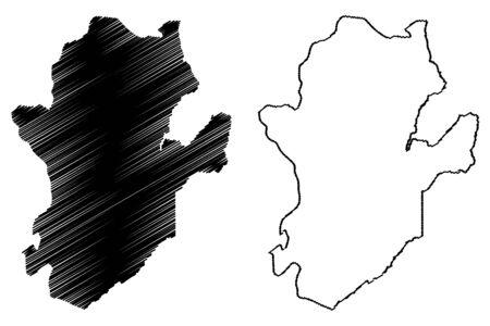 Eastern Province (Republic of Sierra Leone, Salone) map vector illustration, scribble sketch Eastern map