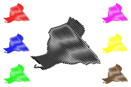 Peravia (Dominican Republic, Hispaniola, Provinces of the Dominican Republic) map vector illustration, scribble sketch Peravia map 일러스트