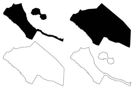 Rivas Department (Republic of Nicaragua, Departments of Nicaragua) map vector illustration, scribble sketch Rivas (NI-RI) map 일러스트