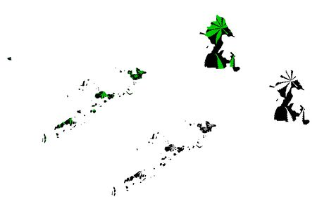 Autonomous Region in Muslim Mindanao (Regions and provinces of the Philippines) map is designed cannabis leaf green and black, ARMM map made of marijuana (marihuana,THC) foliage
