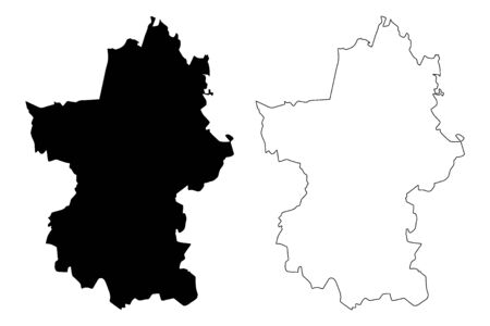 Paijanne Tavastia Region (Republic of Finland) map vector illustration, scribble sketch Paijat-Hame map Ilustração