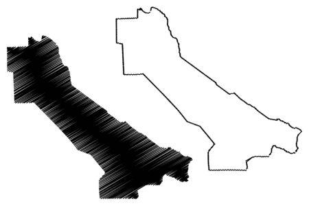 Lebap Region (Republic of Turkmenistan, Districts of Turkmenistan) map vector illustration, scribble sketch Lebap Province map