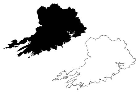Cork County Council (Republic of Ireland, Counties of Ireland) map vector illustration, scribble sketch Cork map Illustration