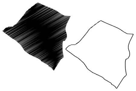 Carazo Department (Republic of Nicaragua, Departments of Nicaragua) map vector illustration, scribble sketch Carazo (NI-CA) map