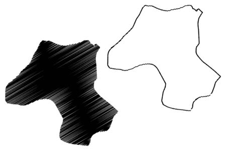 Esteli Department (Republic of Nicaragua, Departments of Nicaragua) map vector illustration, scribble sketch Estelí (NI-ES) map