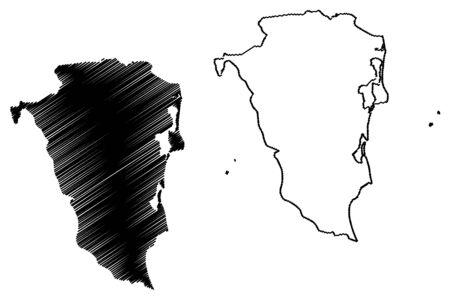 South Caribbean Coast Autonomous Region (Republic of Nicaragua, Departments of Nicaragua) map vector illustration, scribble sketch RACCS, RACS or RAAS (NI-AS) map