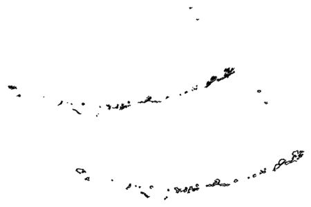 Aleutians West Census Area, Alaska (Boroughs and census areas in Alaska, United States of America,USA, U.S., US) map vector illustration, scribble sketch Aleutian, Attu, Unalaska, Pribilof Islands map Фото со стока - 133145251