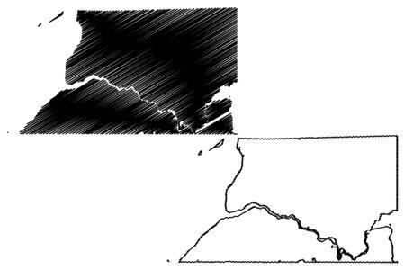 Bristol Bay Borough, Alaska (Boroughs and census areas in Alaska, United States of America,USA, U.S., US) map vector illustration, scribble sketch Bristol Bay map Фото со стока - 133145009