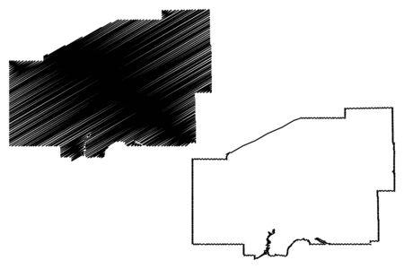 Matanuska-Susitna Borough, Alaska (Boroughs and census areas in Alaska, United States of America,USA, U.S., US) map vector illustration, scribble sketch Mat-Su Borough map 일러스트