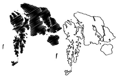 Petersburg Borough, Alaska (Boroughs and census areas in Alaska, United States of America,USA, U.S., US) map vector illustration, scribble sketch Petersburg map Фото со стока - 133251852