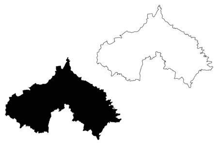 Koprivnica-Krizevci County (Counties of Croatia, Republic of Croatia) map vector illustration, scribble sketch Koprivnica Krizevci map