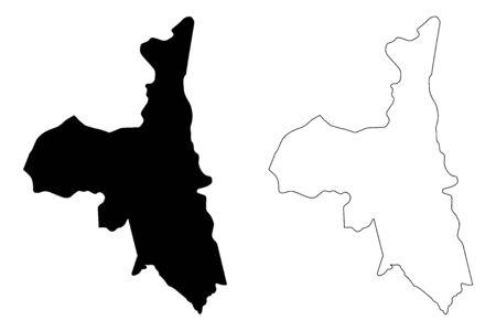 Assaba Region (Regions of Mauritania, Islamic Republic of Mauritania) map vector illustration, scribble sketch Assaba map 일러스트